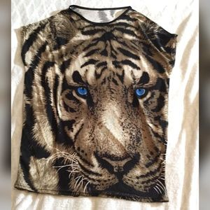 Tops - Boxy Loose Fit Soft and Thin Tiger 🐯Long Top